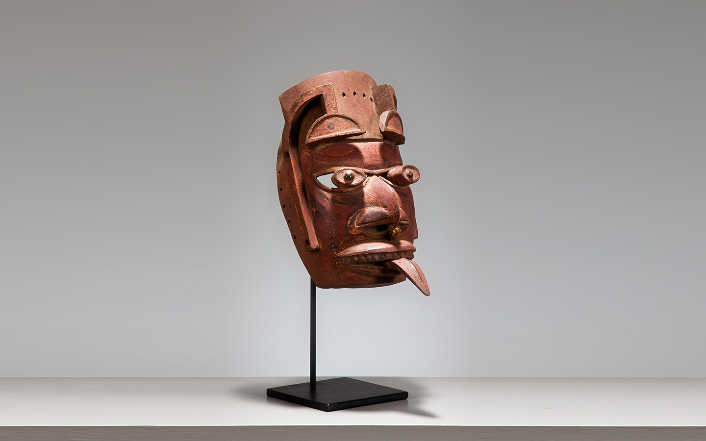 A RARE MALAGAN MASK